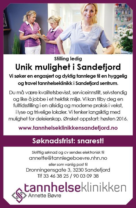 Stillingsanonse_TannhelseklinikkenSandefjord_tannlege